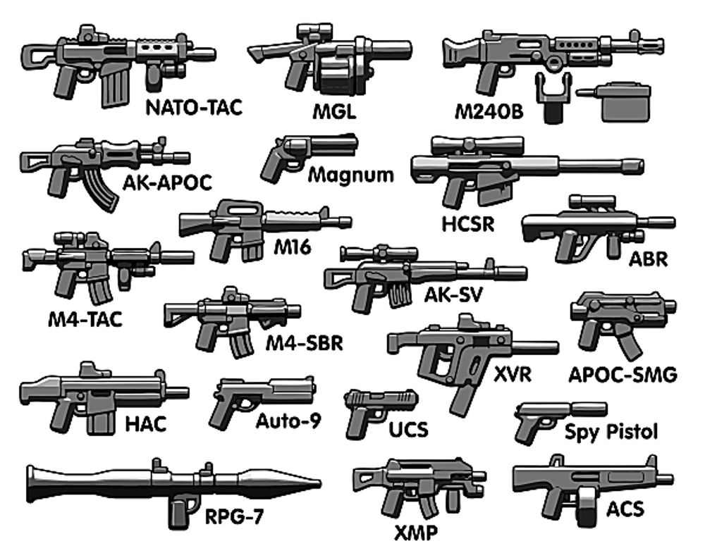 BrickArms® Battle Royale Weapons Pack