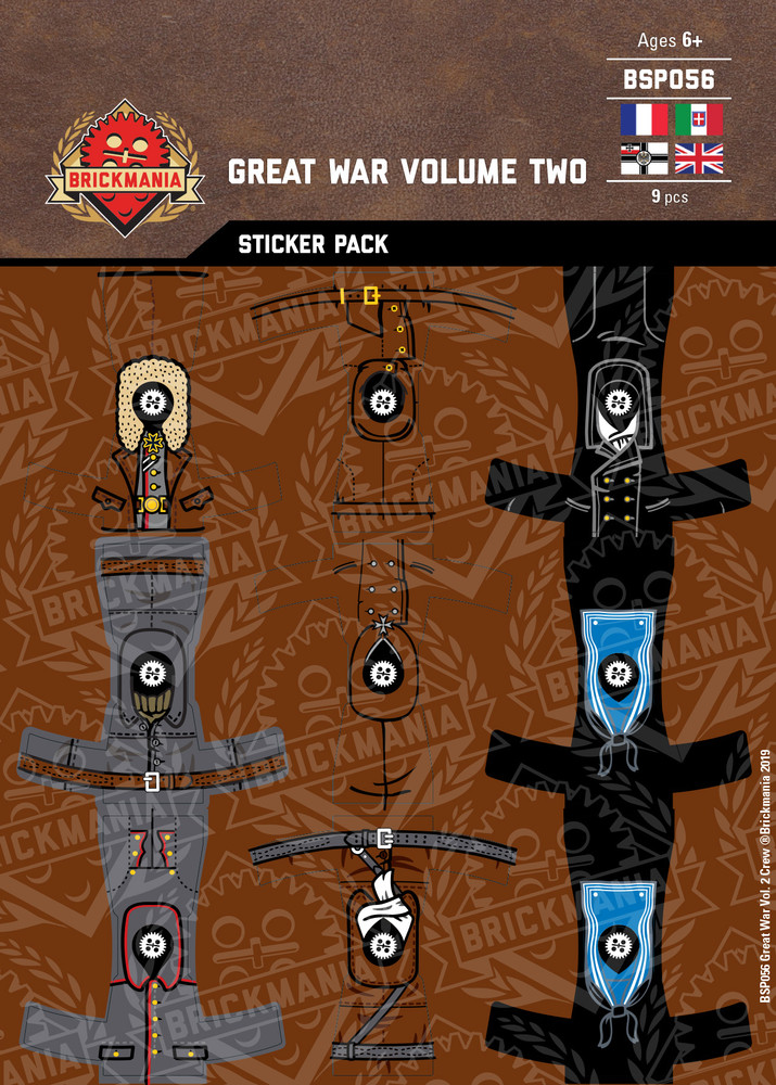 Great War Volume Two Crew - Sticker Pack
