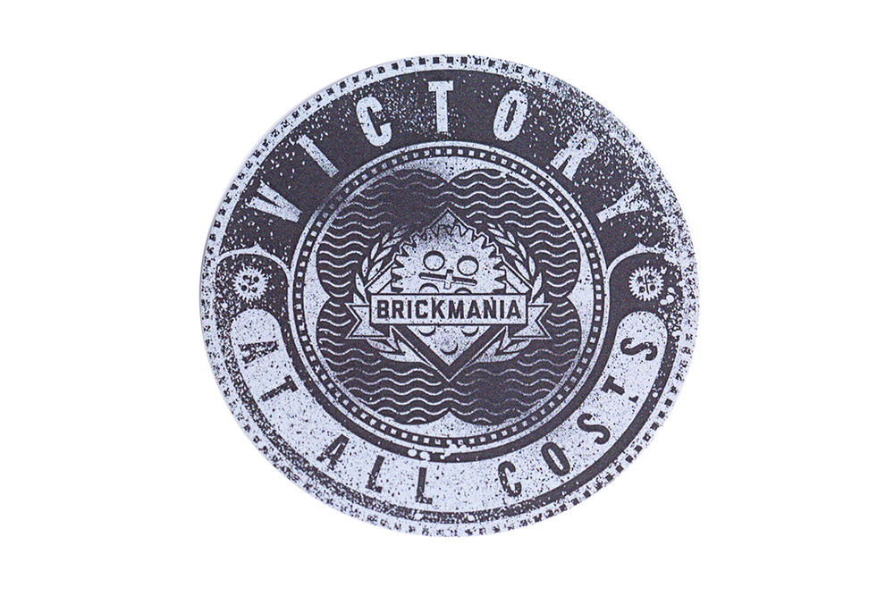 Brickmania Victory At All Costs - Sticker