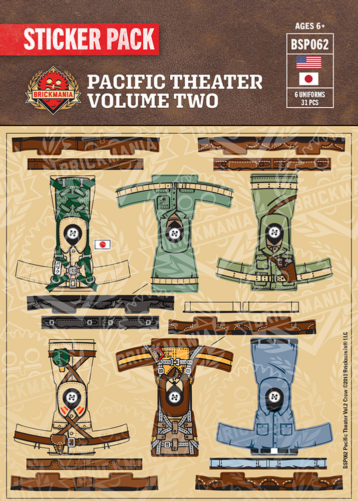 Pacific Theater Volume Two Crew Pack - Sticker Pack