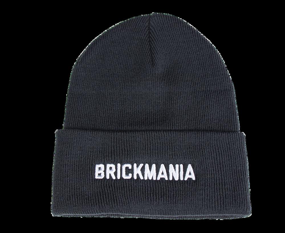 Black Winter Beanie Hat - Brickmania
