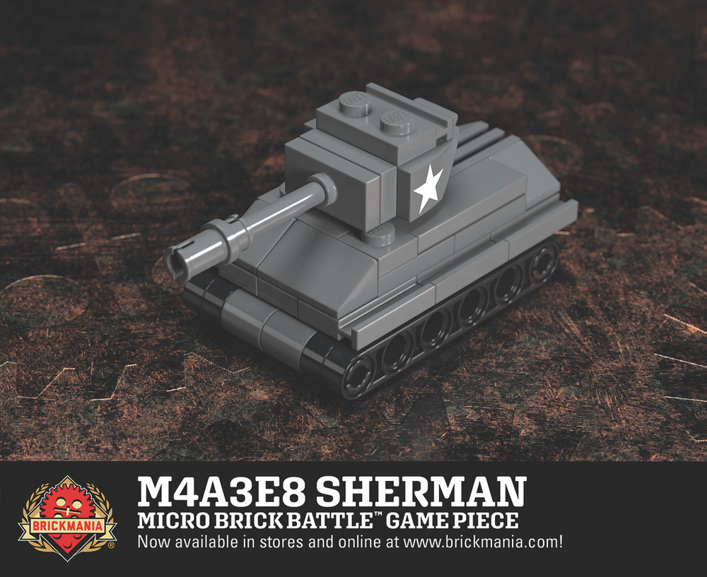 M4A3E8 Sherman - Micro Brick Battle Game Piece