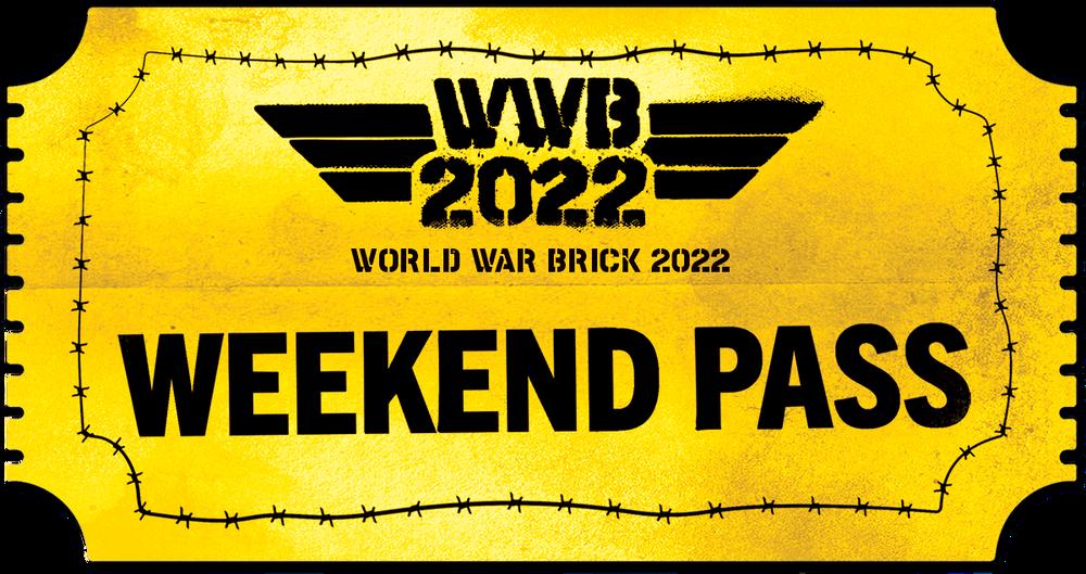World War Brick 2022 - Weekend Pass