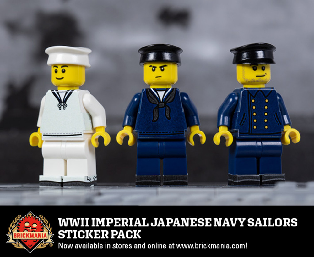 WWII Imperial Japanese Navy Sailors Sticker Pack