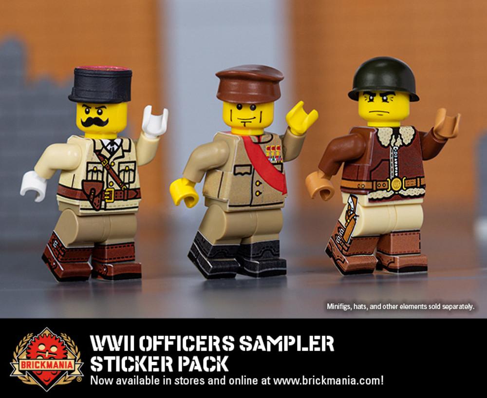 WWII Officers Sampler - Sticker Pack