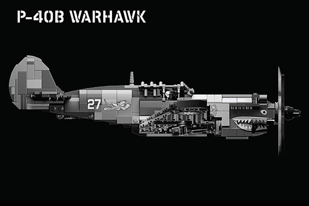 P-40B Warhawk - WWII Fighter