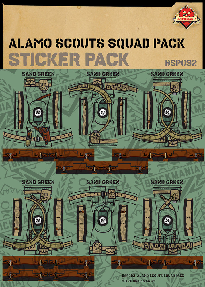 Alamo Scouts Squad Pack - Sticker Pack