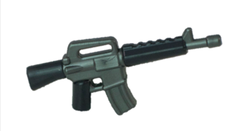 BrickArms® M16 Reloaded Overmolded - Black and Gunmetal