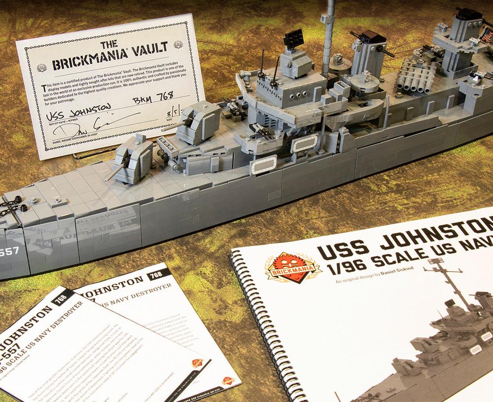 USS Johnston DD-557 - 1/96 Scale US Navy Destroyer - BKM Vault