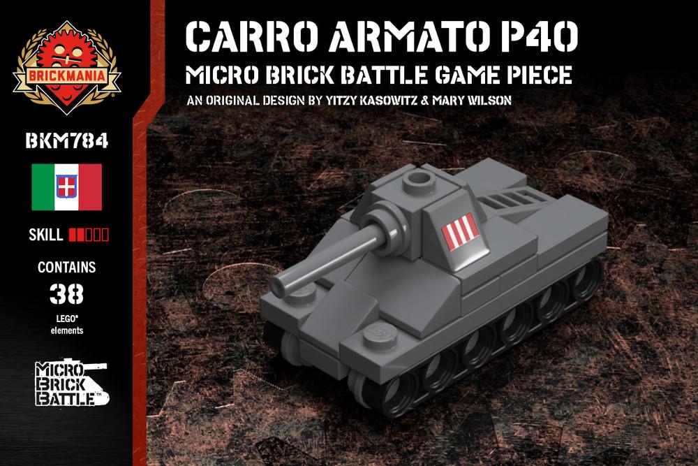 Carro Armato P40 - Micro Brick Battle Game Piece