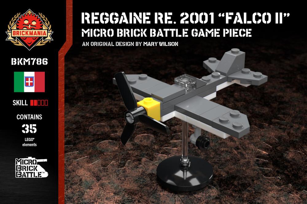 "Reggiane Re. 2001 ""Falco II""- Micro Brick Battle Game Piece"