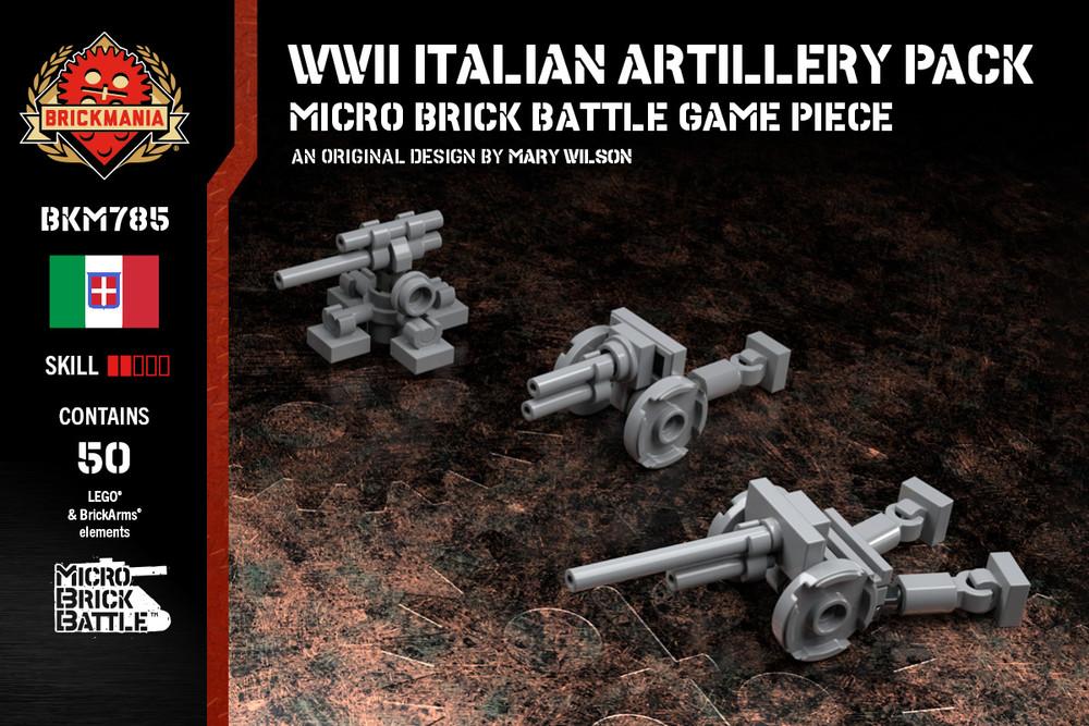 WWII Italian Artillery Pack - Cannone Da 75/32 - Modello 37, Obice da 100/17 Model 14, Cannone da 75/46 C.A. modello 34 (cruciform AA mount)