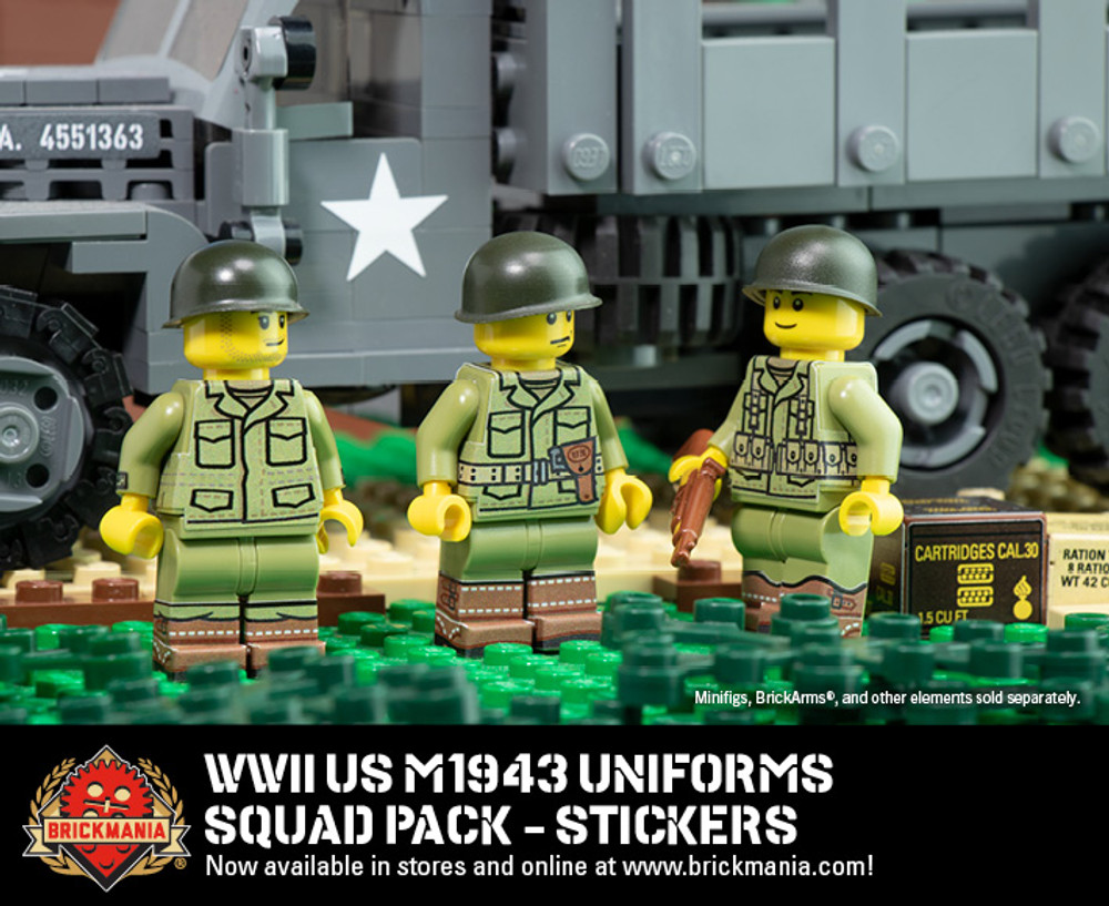 WWII US M1943 Uniforms - Squad Pack Stickers