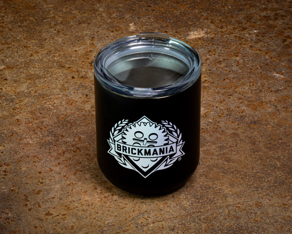 Brickmania® White Logo Lowball Tumbler - 10 oz.