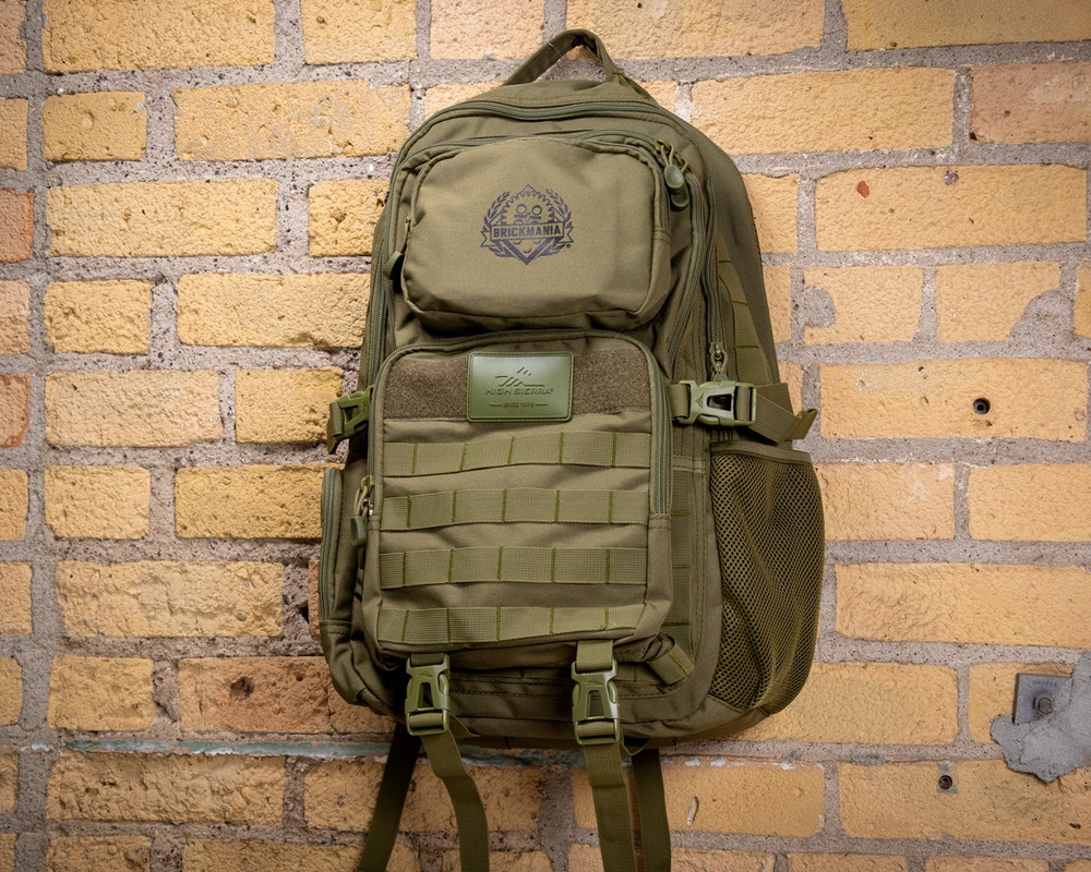 "Brickmania® High Sierra Tactical 15"" Computer Backpack - Printed Black Logo"