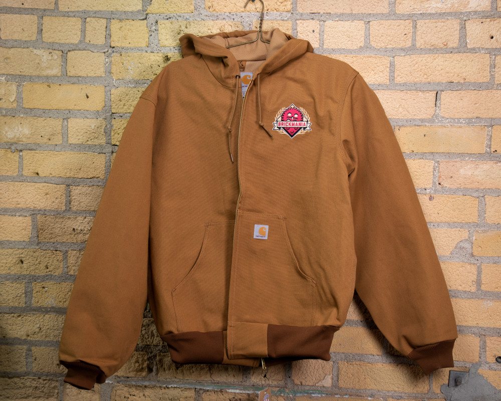 Brickmania® Embroidered Carhartt Duck Thermal-Lined Active Jacket – Light Brown