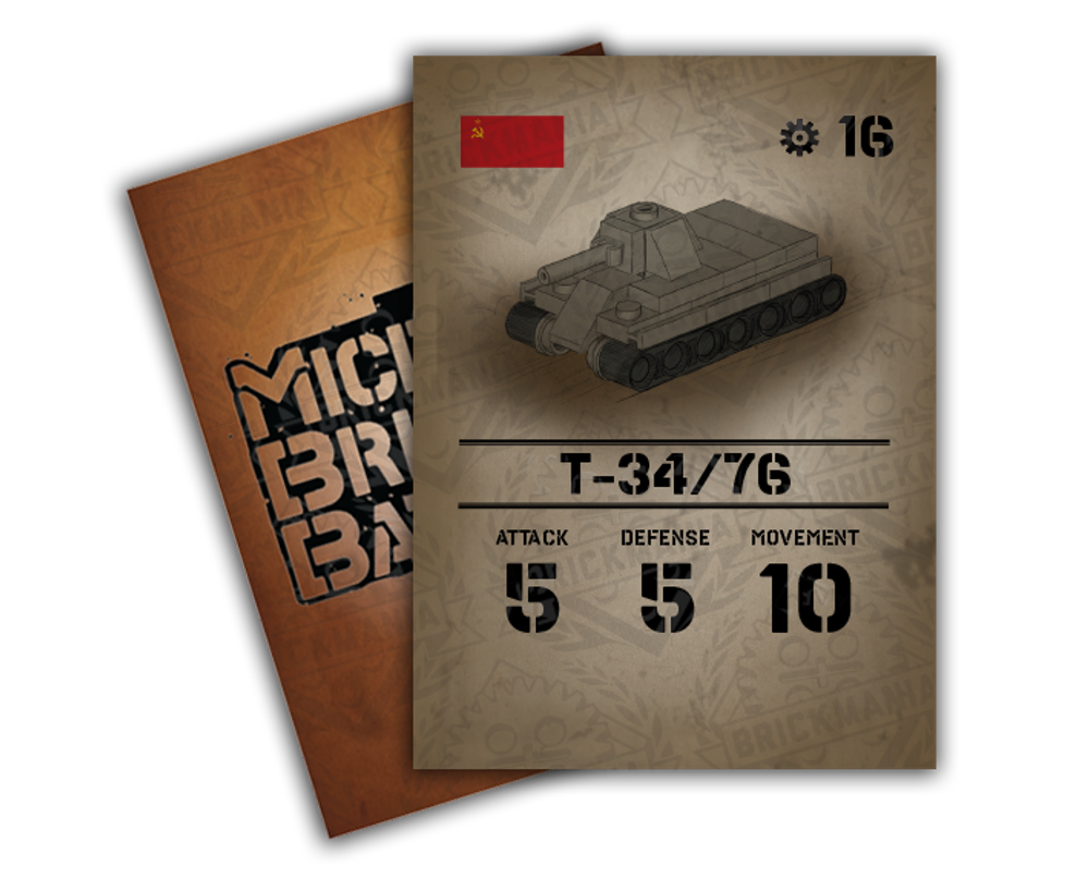 Micro Brick Battle Stat Cards - Pack 1