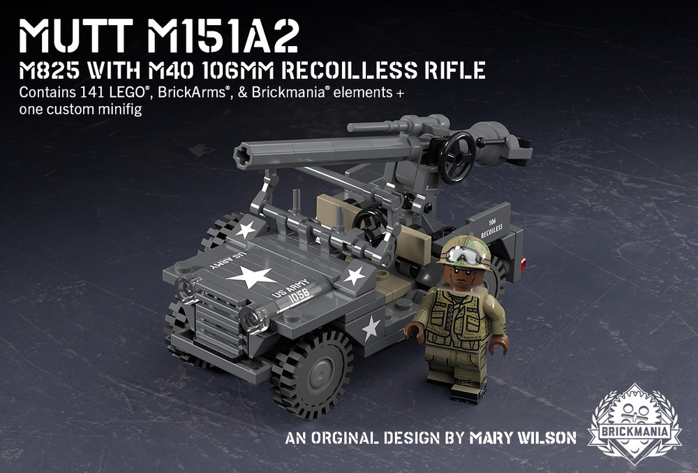 MUTT M151A2 - M825 with M40 106mm Recoilless Rifle