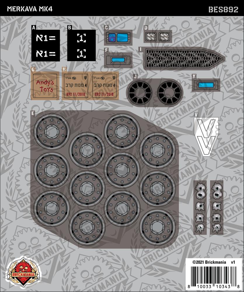Merkava MK4 (BKE892) - Sticker Pack