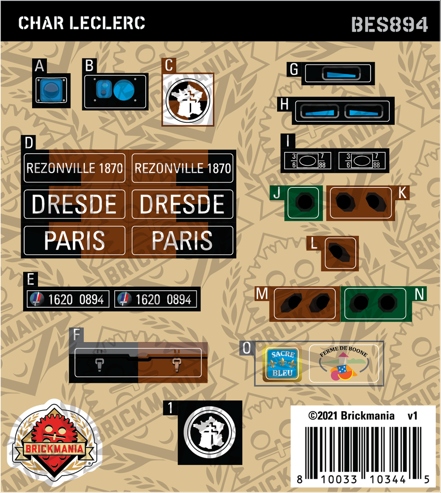 Char Leclerc (BKE894) - Sticker Pack