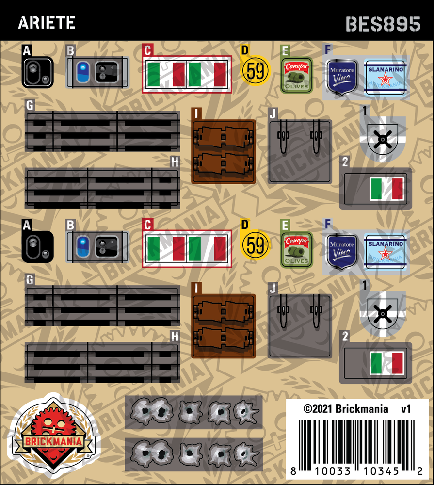 Ariete (BKE895) - Sticker Pack