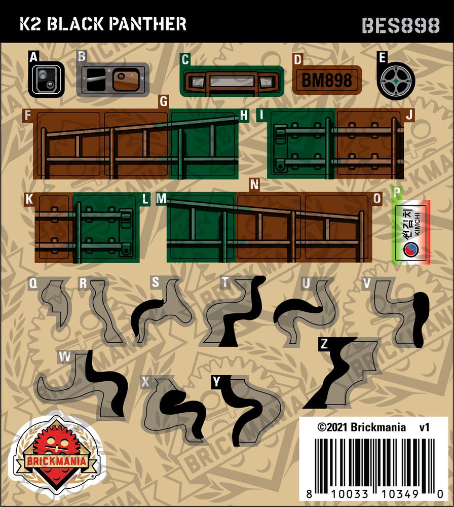 K2 Black Panther (BKE898) - Sticker Pack