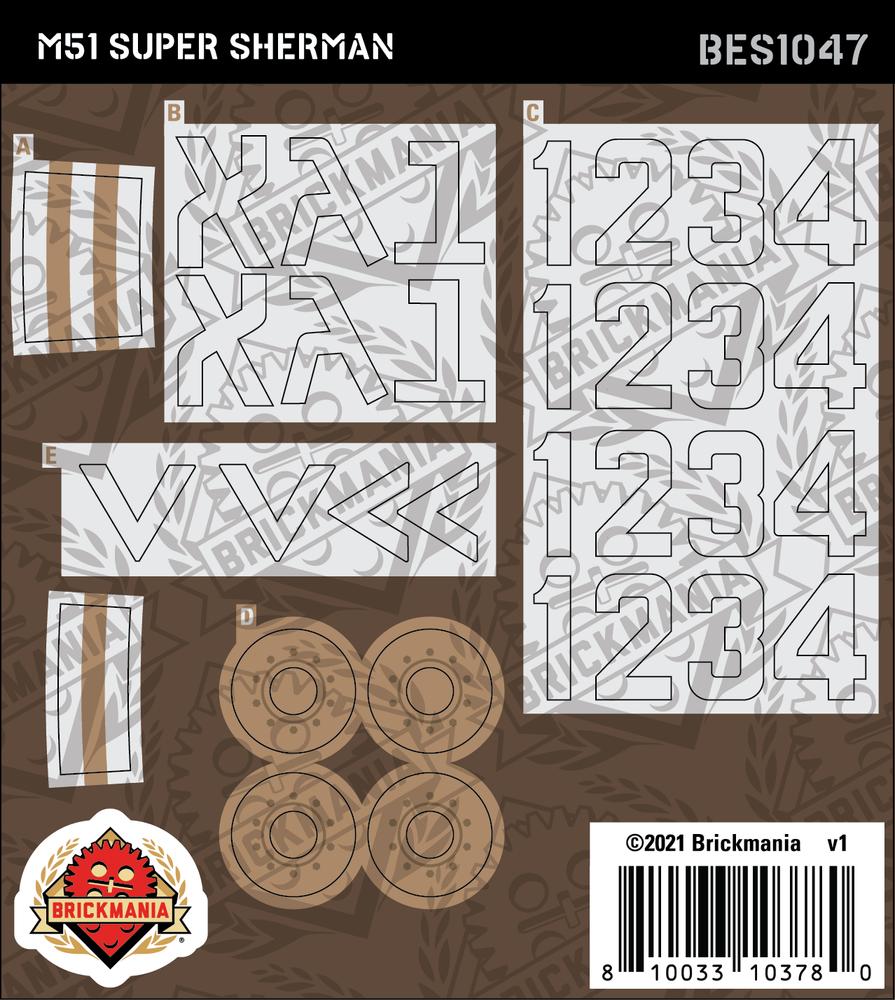 M51 Super Sherman (BKE1047) - Sticker Pack
