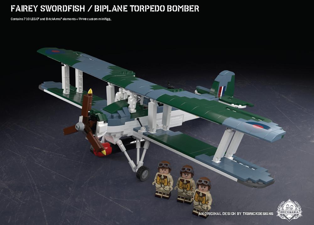 Fairey Swordfish - Biplane Torpedo Bomber