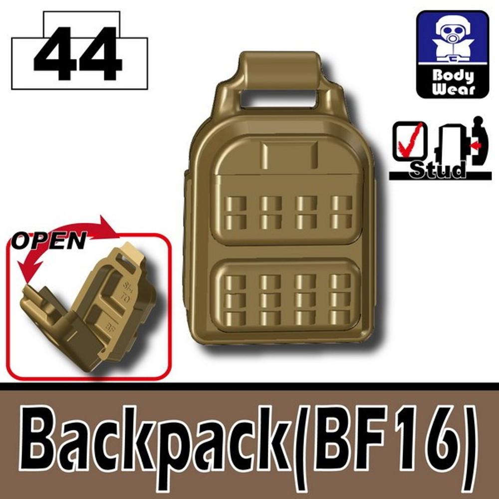 Minifig.Cat Dark Tan Backpack (BF16)