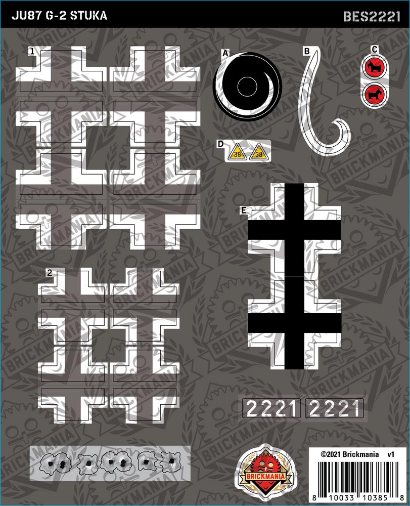 Ju87 G-2 Stuka (BKE2221) - Sticker Pack