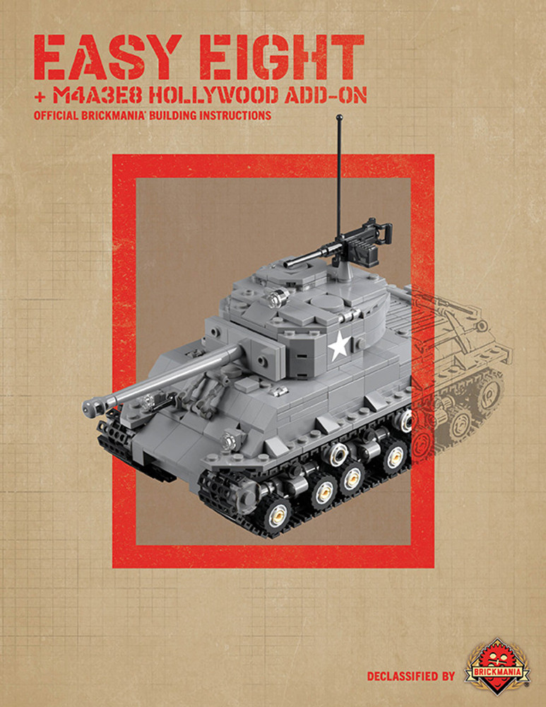 Easy Eight + M4A3E8 Hollywood Add-On - Digital Building Instructions