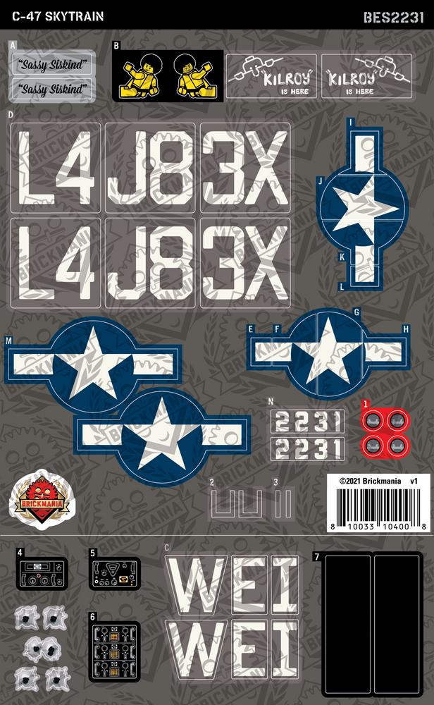 C-47 Skytrain (BKE2231) - Sticker Pack