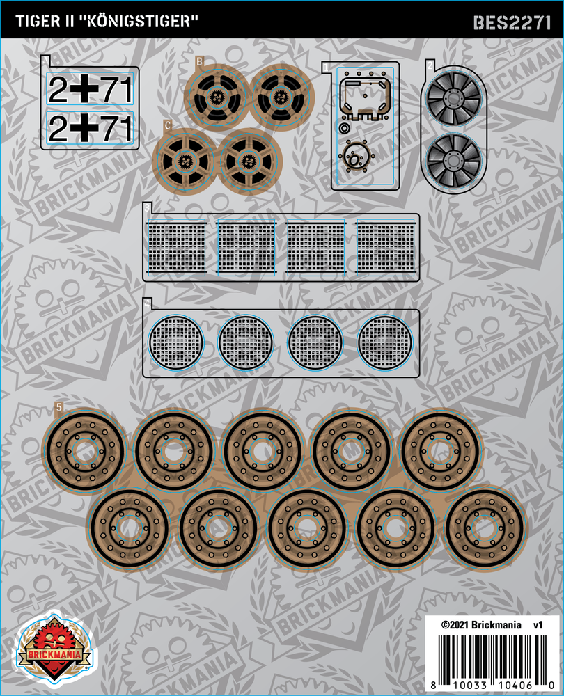 "Tiger II ""Königstiger"" (BKE2271) - Sticker Pack"