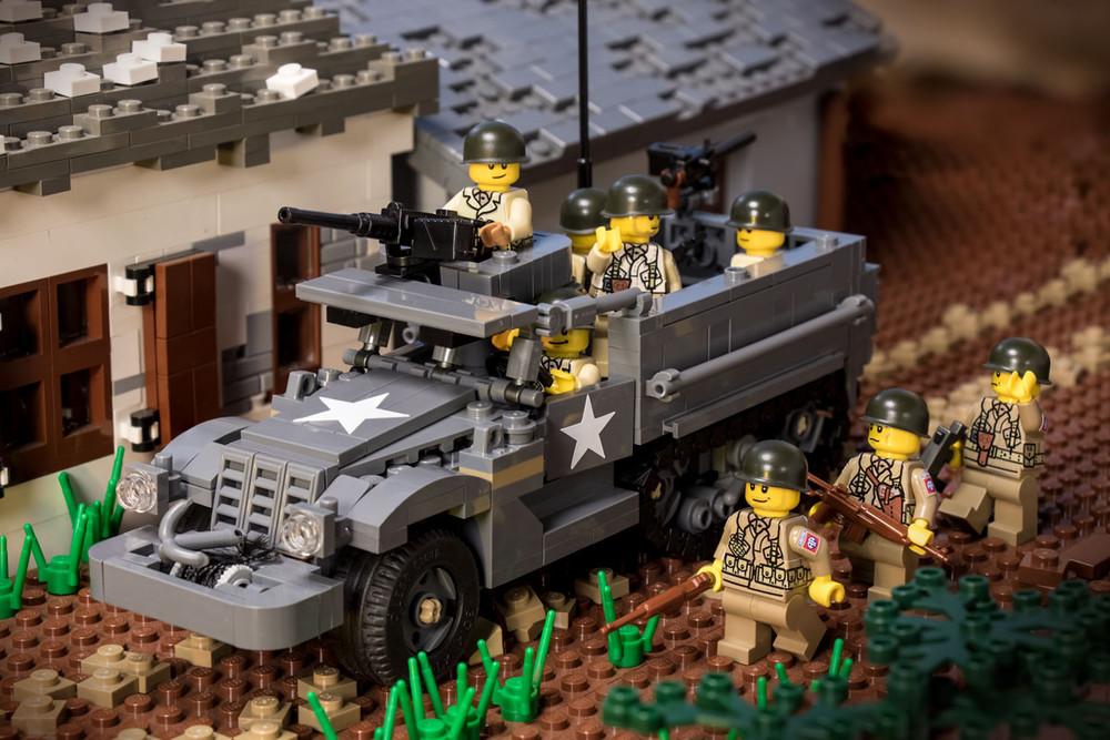 M3A1 Half Track + M16 Meat Chopper - Digital Building Instructions