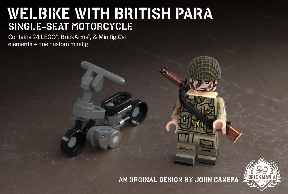 Welbike with British Para – Single-Seat Motorcycle