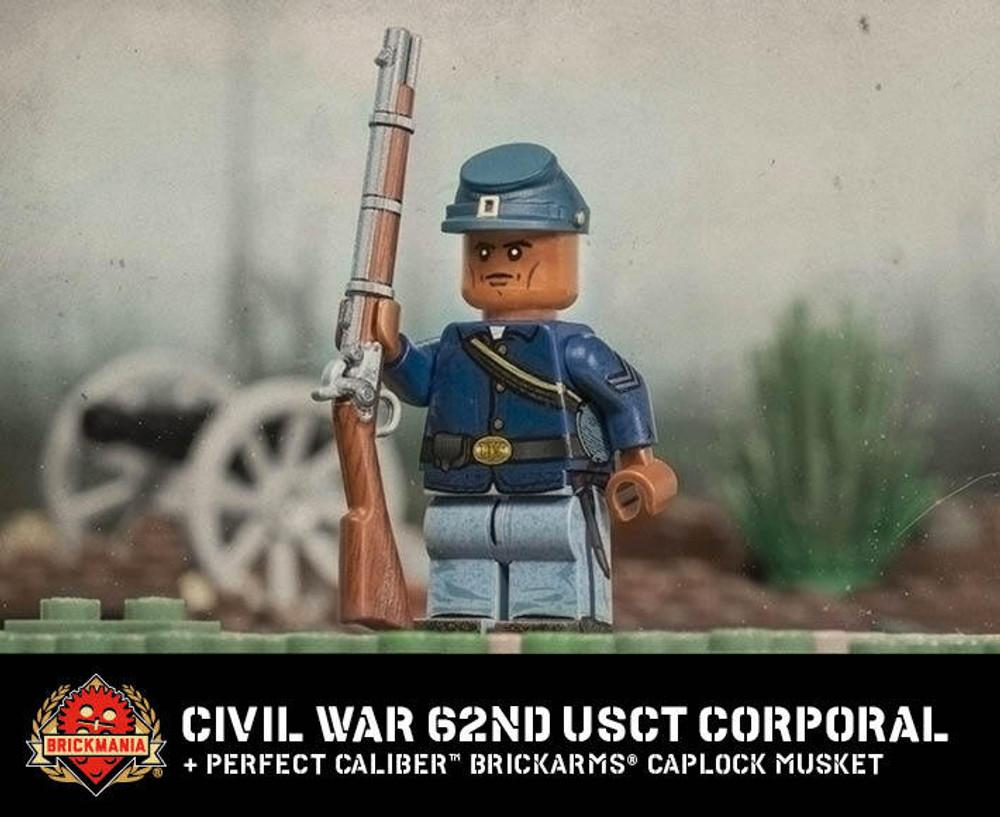 Civil War 62nd USCT Corporal + Perfect Caliber™ BrickArms® Caplock Musket