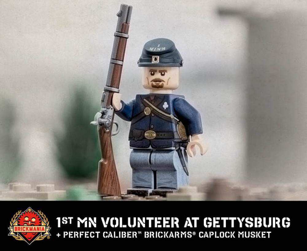 1st MN Volunteer Infantry at Gettysburg with Perfect Caliber™ BrickArms® Caplock Musket