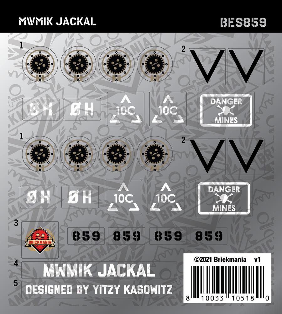 MWMIK Jackal (BKE859) - Sticker Pack
