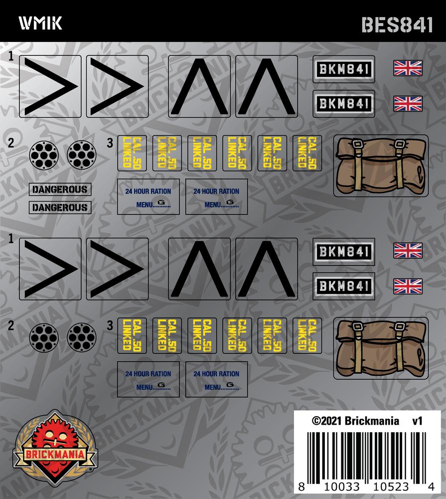 WMIK (BKE841 & BKE842) - Sticker Pack