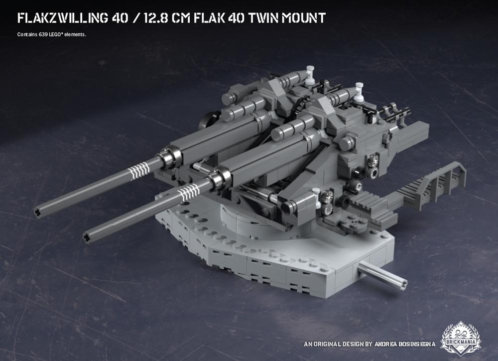 Flakzwilling 40 – 12.8 cm FlaK 40 Twin Mount