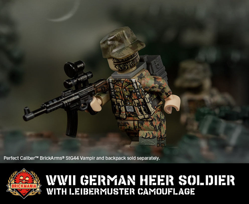 WWII German Heer Soldier with Leibermuster Camouflage