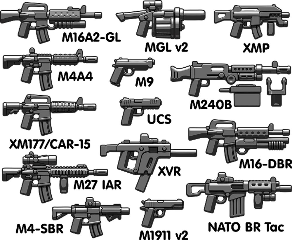 BrickArms® Modern Combat Frontline Pack