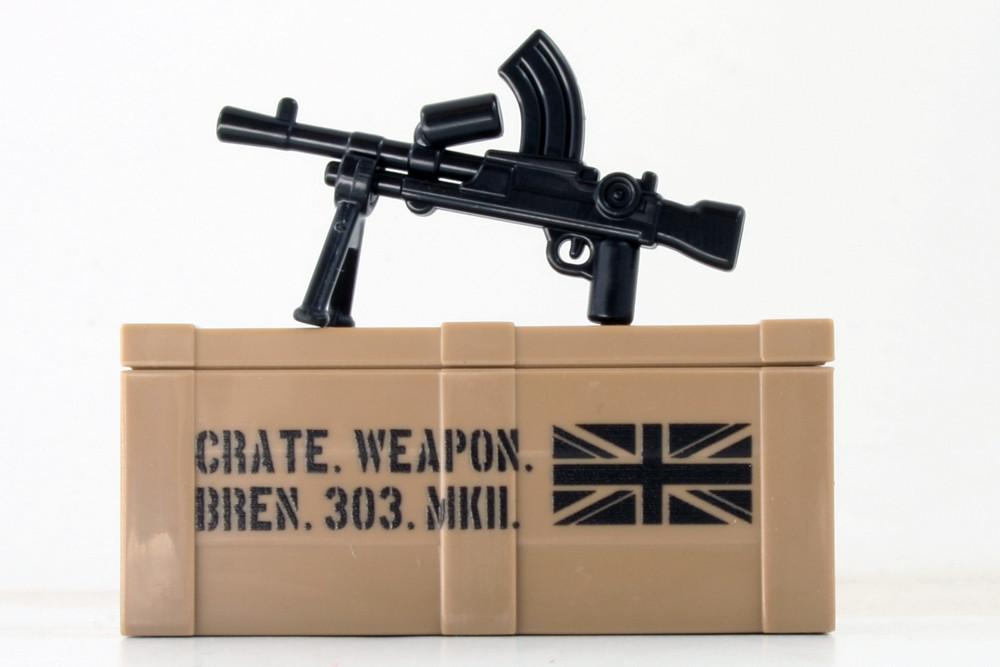 BrickArms® Bren Gun and Printed Crate