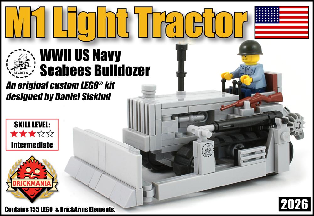 M1 Light Tractor: US Navy Seabees Bulldozer