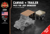 Canvas + Trailer - Pack for WWII 1/4 Ton 4X4 Utility Truck