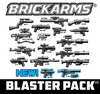 BrickArms® Blaster Weapons Pack v2