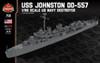 USS Johnston DD-557 - 1/96 Scale US Navy Destroyer