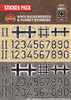 WWII Balkenkreuz & Turret Numbers - Sticker Pack