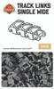Brickmania Track Links™ - Chevron Single Wide - Gold - x200