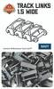 Brickmania Track Links™ - Chevron One and a Half  Wide - Dark Blue- x150